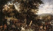 BRUEGHEL, Jan the Elder Garden of Eden 1612 Oil on copper oil painting picture wholesale